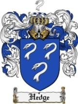 Hedge Family Crest / Coat of Arms JPG or PDF Image Download - $6.99