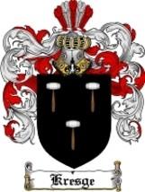 Kresge Family Crest / Coat of Arms JPG or PDF Image Download - $6.99