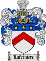 Lafreniere Family Crest / Coat of Arms JPG or PDF Image Download - $6.99