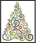 Abstract Christmas Tree #12294 cross stitch chart Artecy Cross Stitch Chart - $7.20