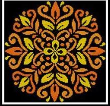 Ornament Floral 1 #12276 cross stitch chart Artecy Cross Stitch Chart