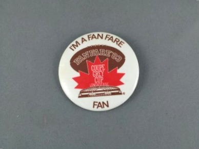 Primary image for 1983 Grey Cup Pin - Fan Zone (Fan Fare ) - Rare !!