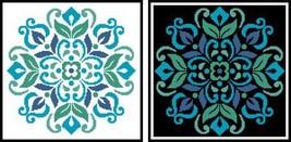 Ornament Floral 4 #12279 cross stitch chart Artecy Cross Stitch Chart - $7.20