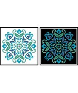 Ornament Floral 4 #12279 cross stitch chart Artecy Cross Stitch Chart - $7.20