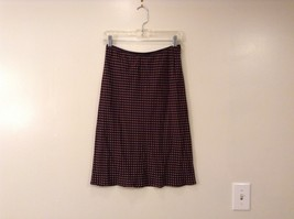 The Limited Silk Dark Chocolate Brown with Light Brown Polka Dots Skirt, size S