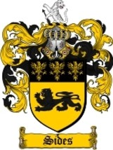 Sides Family Crest / Coat of Arms JPG or PDF Image Download - $6.99