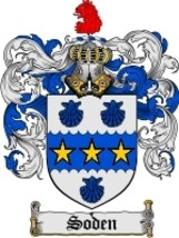 Soden Family Crest / Coat of Arms JPG or PDF Image Download - $6.99
