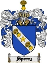 Sperry Family Crest / Coat of Arms JPG or PDF Image Download - $6.99