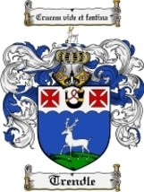 Trendle Family Crest / Coat of Arms JPG or PDF Image Download - $6.99