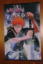 BLEACH ANIME WALL SCROLL KUROSAKI ICHIGO REIATSU NEW - $9.95