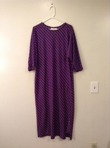 Saks Fifth Avenue Parisian Made Multicolor Striped Long Dress, size M