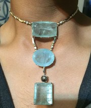 Custom Huge 199 ct aquamarine 4.45ct diamond 14k gold choker necklace 14... - $49,999.99