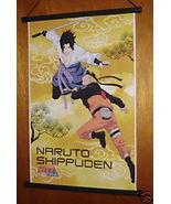NARUTO & SASUKE ANIME MANGA WALL SCROLL 14x21 NEW - $6.95