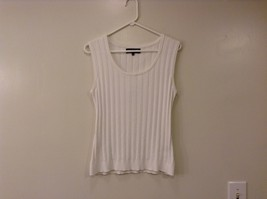 Jones New York Collection White Sleeveless Scoop Neck Tank Top Blouse, size L image 1