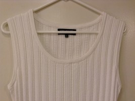 Jones New York Collection White Sleeveless Scoop Neck Tank Top Blouse, size L image 3