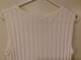 Jones New York Collection White Sleeveless Scoop Neck Tank Top Blouse, size L image 6