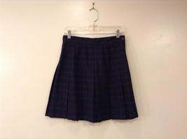 Tracy Evans Navy Blue / Dark Green Plaid School Uniform Pleated Skirt, size 11