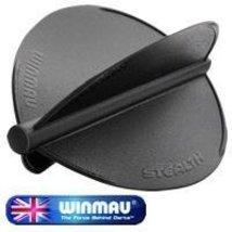 Winmau Stealth - Black - Tear Drop Shape Dart Flight - $10.00