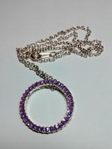 pretty purple circle of life pendant and chain  - $14.95