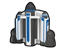 White RX Jet grey blue Jetpack Star Wars back R2D2 fig backpack jet colo... - $6.44