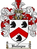 Primary image for Bulloyne Family Crest / Coat of Arms JPG or PDF Image Download