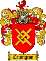 Primary image for Canington Family Crest / Coat of Arms JPG or PDF Image Download