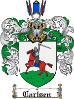 Primary image for Carlsen Family Crest / Coat of Arms JPG or PDF Image Download