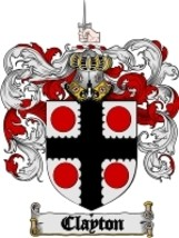 Clayton Family Crest / Coat of Arms JPG or PDF Image Download - $6.99