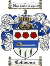 Collisoun Family Crest / Coat of Arms JPG or PDF Image Download - $6.99