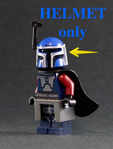 Blue Mando SILVER GLN Helmet JANCO Trooper fig Future police Star Wars H... - $6.70