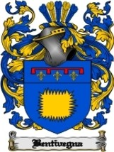 Bentivegna Family Crest / Coat of Arms JPG or PDF Image Download - $6.99