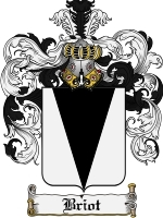 Primary image for Briot Family Crest / Coat of Arms JPG or PDF Image Download