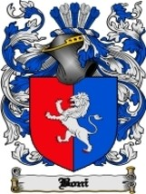 Boni Family Crest / Coat of Arms JPG or PDF Image Download - $6.99