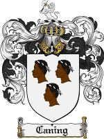 Primary image for Caning Family Crest / Coat of Arms JPG or PDF Image Download