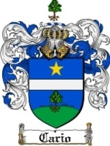 Cario Family Crest / Coat of Arms JPG or PDF Image Download - $6.99