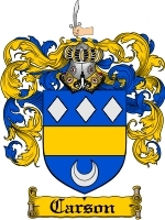 Primary image for Carson Family Crest / Coat of Arms JPG or PDF Image Download