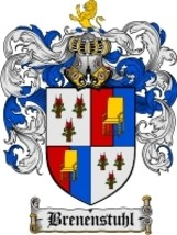 Brenenstuhl Family Crest / Coat of Arms JPG or PDF Image Download - $6.99