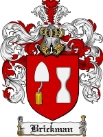 Primary image for Brickman Family Crest / Coat of Arms JPG or PDF Image Download