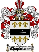 Primary image for Chapdelaine Family Crest / Coat of Arms JPG or PDF Image Download