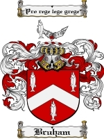Primary image for Bruham Family Crest / Coat of Arms JPG or PDF Image Download