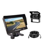 7inch Monitor and Backup Camera Security System kit,IP69 Waterproof Rear... - $65.41