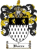 Primary image for Burre Family Crest / Coat of Arms JPG or PDF Image Download