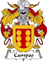 Primary image for Campoo Family Crest / Coat of Arms JPG or PDF Image Download