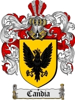 Primary image for Candia Family Crest / Coat of Arms JPG or PDF Image Download