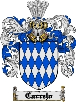 Primary image for Carrejo Family Crest / Coat of Arms JPG or PDF Image Download
