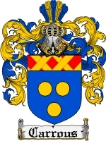 Primary image for Carrous Family Crest / Coat of Arms JPG or PDF Image Download