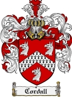 Primary image for Cordall Family Crest / Coat of Arms JPG or PDF Image Download