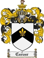 Primary image for Carvar Family Crest / Coat of Arms JPG or PDF Image Download