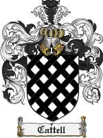 Primary image for Cattell Family Crest / Coat of Arms JPG or PDF Image Download