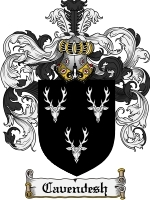 Primary image for Cavendesh Family Crest / Coat of Arms JPG or PDF Image Download